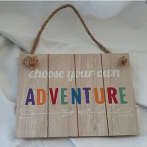 Wooden Wall Decor Chose Your Adventure